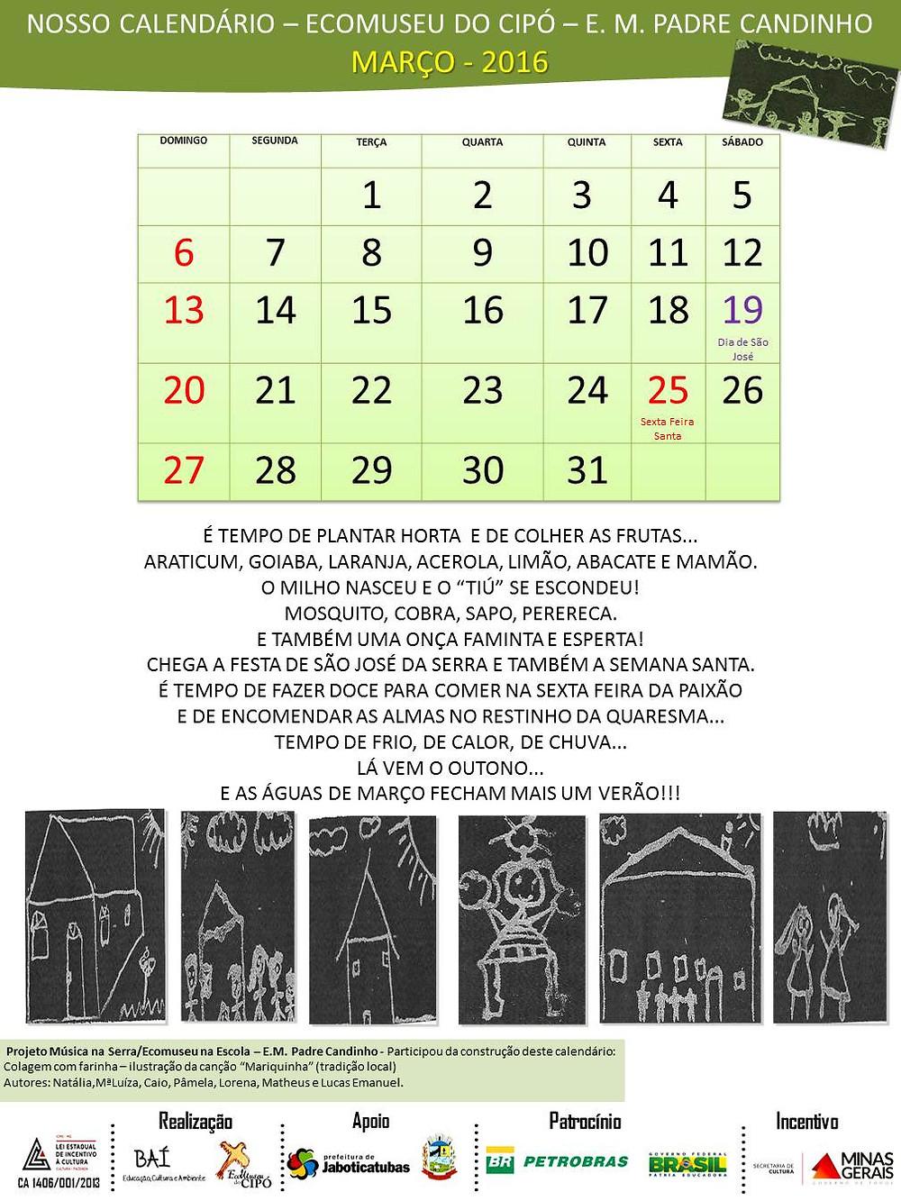 Calendário Sócio Cultural