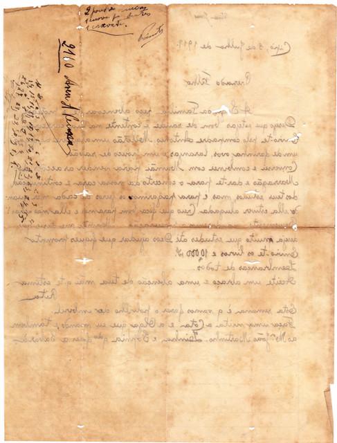 Carta Nha Rita ao Filho - 1931