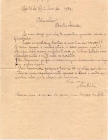 Carta ao Sr. Oduvaldo dos Santos Pinto de Nhá Rita