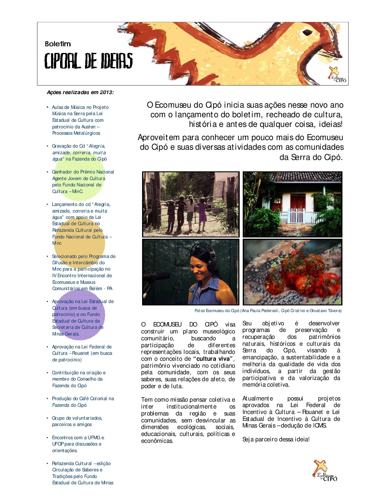 Boletim Cipoal de Ideias - Ecomuseu do Cipó-page-001