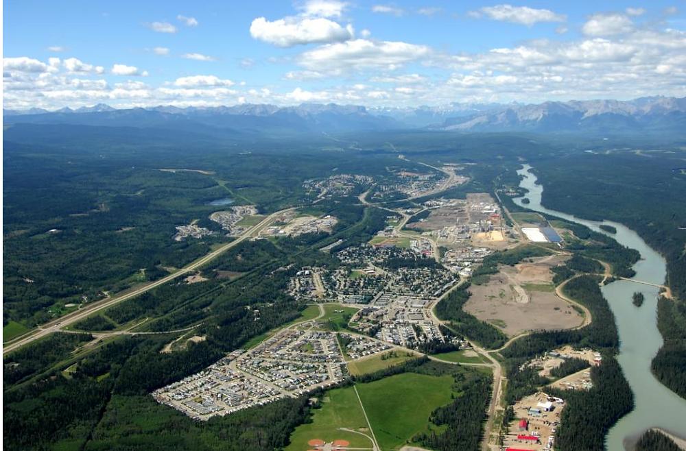 Aerial of Hinton, AB. Source: Hinton.ca