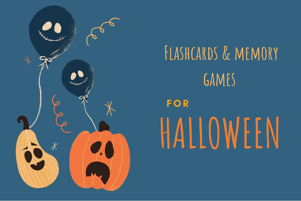 Flashcards and memory games for Halloween - Déclic Anglais