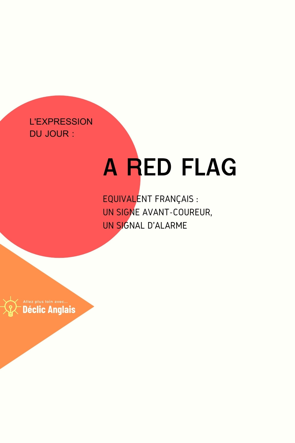 English expression a red flag explained in French