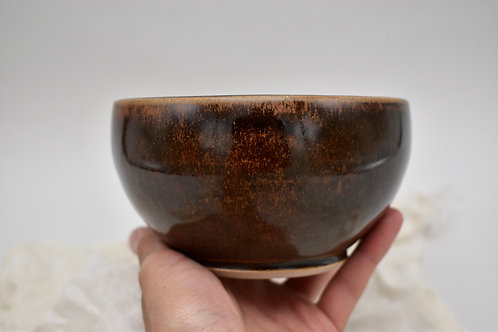 Glossy Brown Bowl