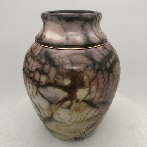"Saggar-Fired Vase 6.5"" x 5"""
