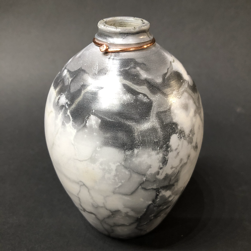 """Pit Fired Bottle - 3.75"""" x 3.25"""""""