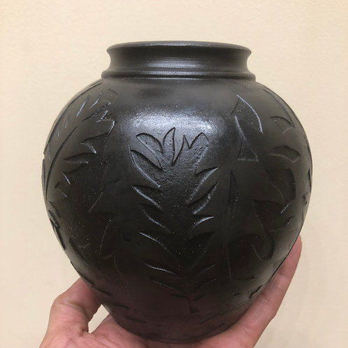 "Smoke Fired Vessel - 6.25"" x 6"""