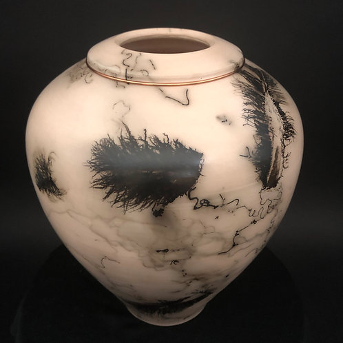 "Feather and Hair Vessel - 9.25"" x 7.5"""