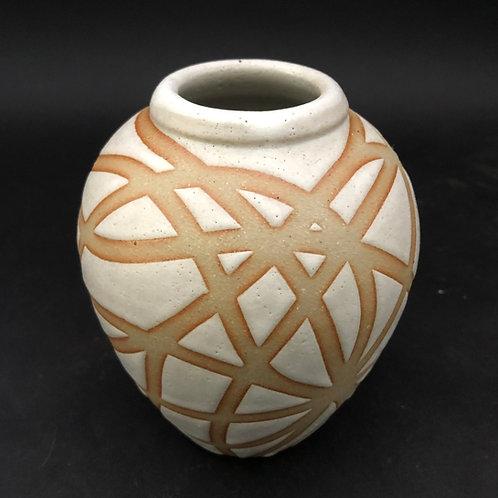 "Stoneware Vase - 5 1/2"" x 4 5/8"""