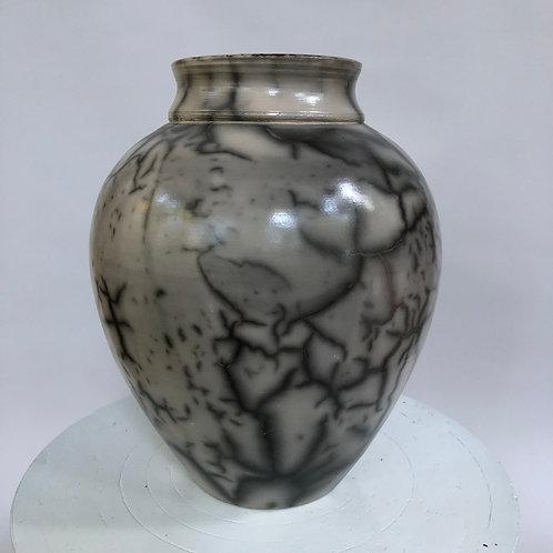 "Saggar-Fired Vase - 8"" x 6.5"""