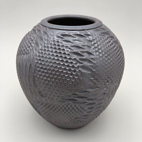 "Stoneware Vase - 6.25"" x 5.7/8"""