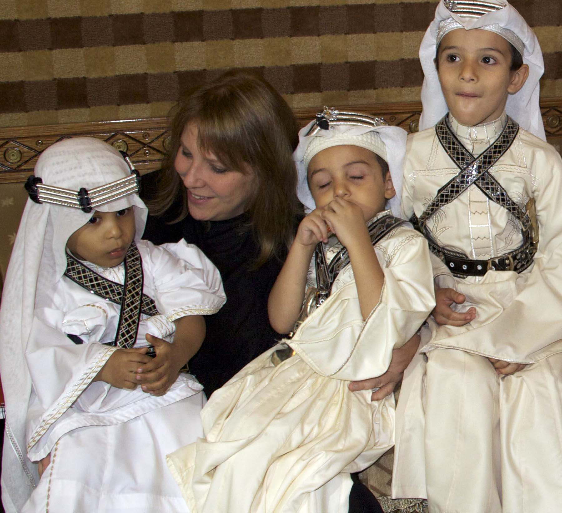 Taif Children in Traditional Dress