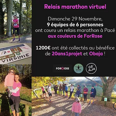Marathon solidaire ForRose
