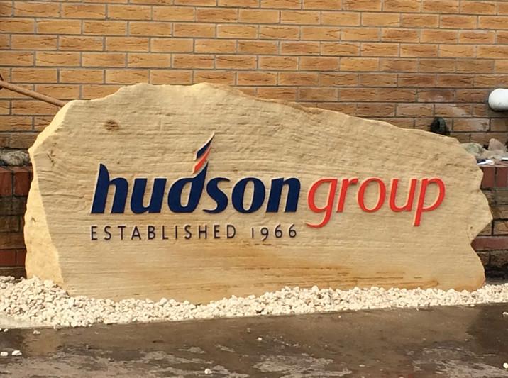 Large sandstone sign