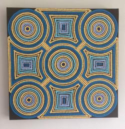 66c. Untitled, Shaun Cole, 50 x 50 x 4, £60