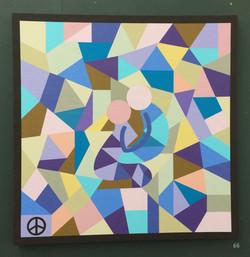 66d. Untitled, Shaun Cole, 90 x 90 x 3, £150.