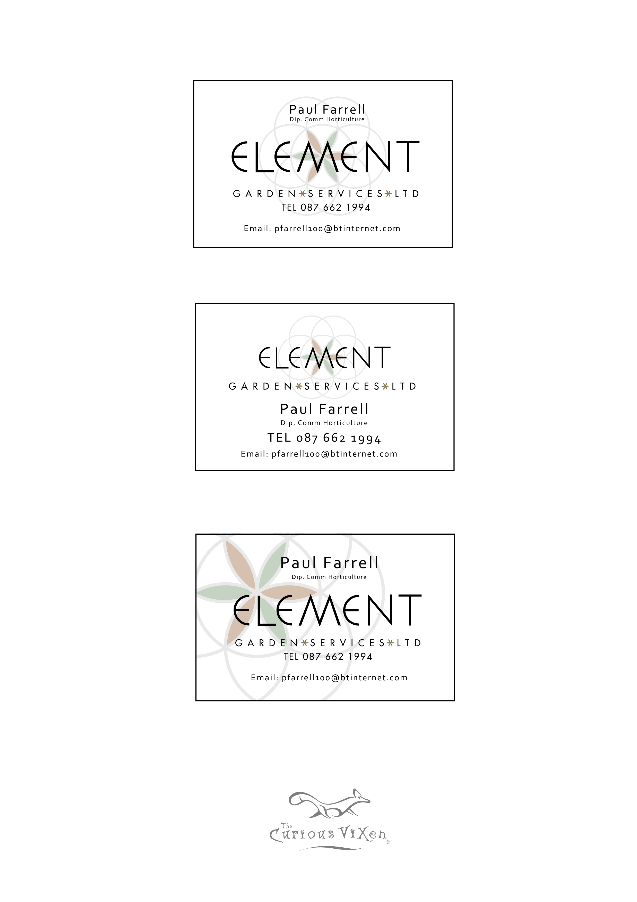8. Business card options