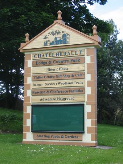 Chatelherault entrance sign.