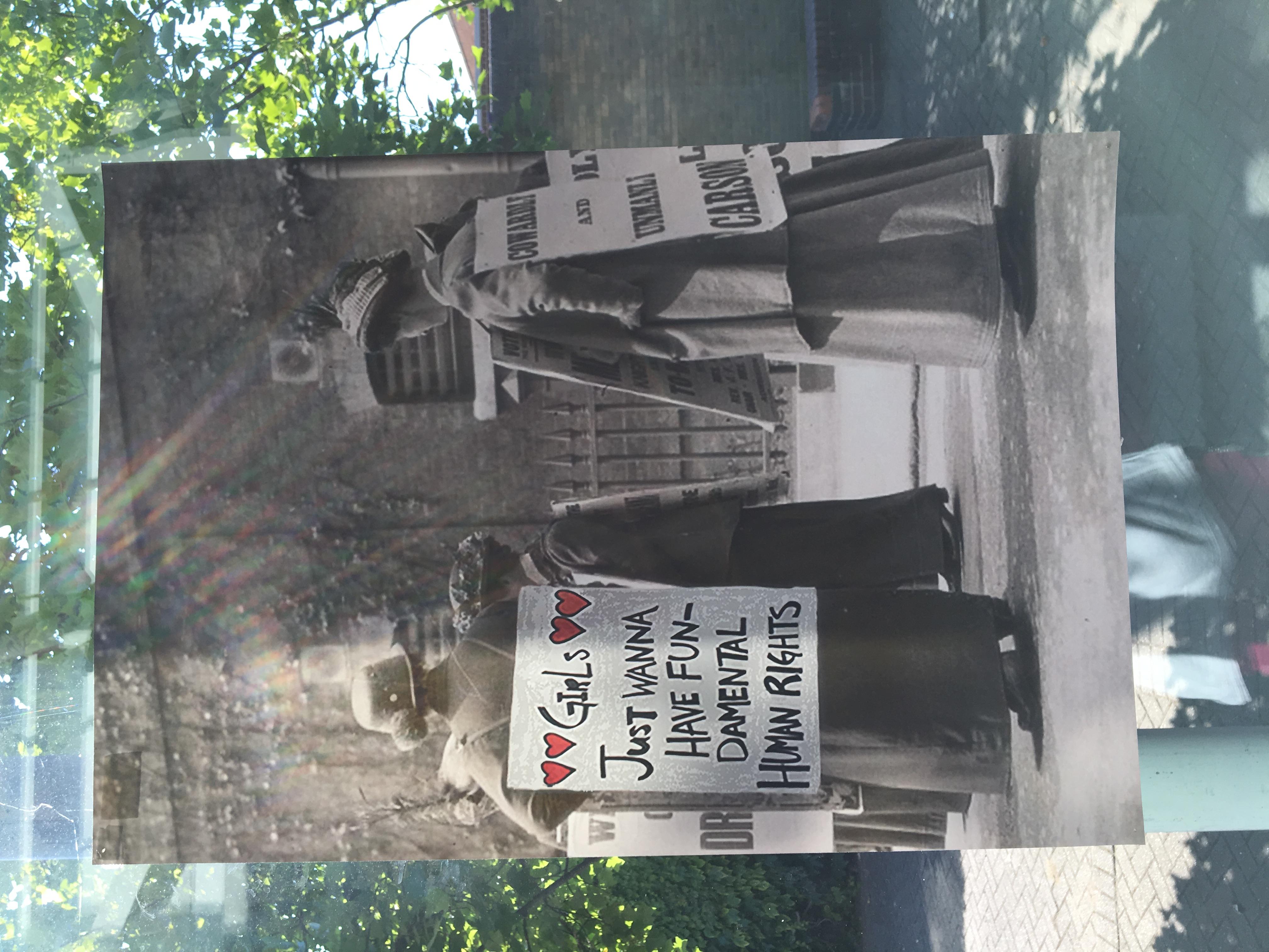 58d. Suffragette Marches, Felicity Beaumont, 40.5 x 59 x 0.1, £ offers