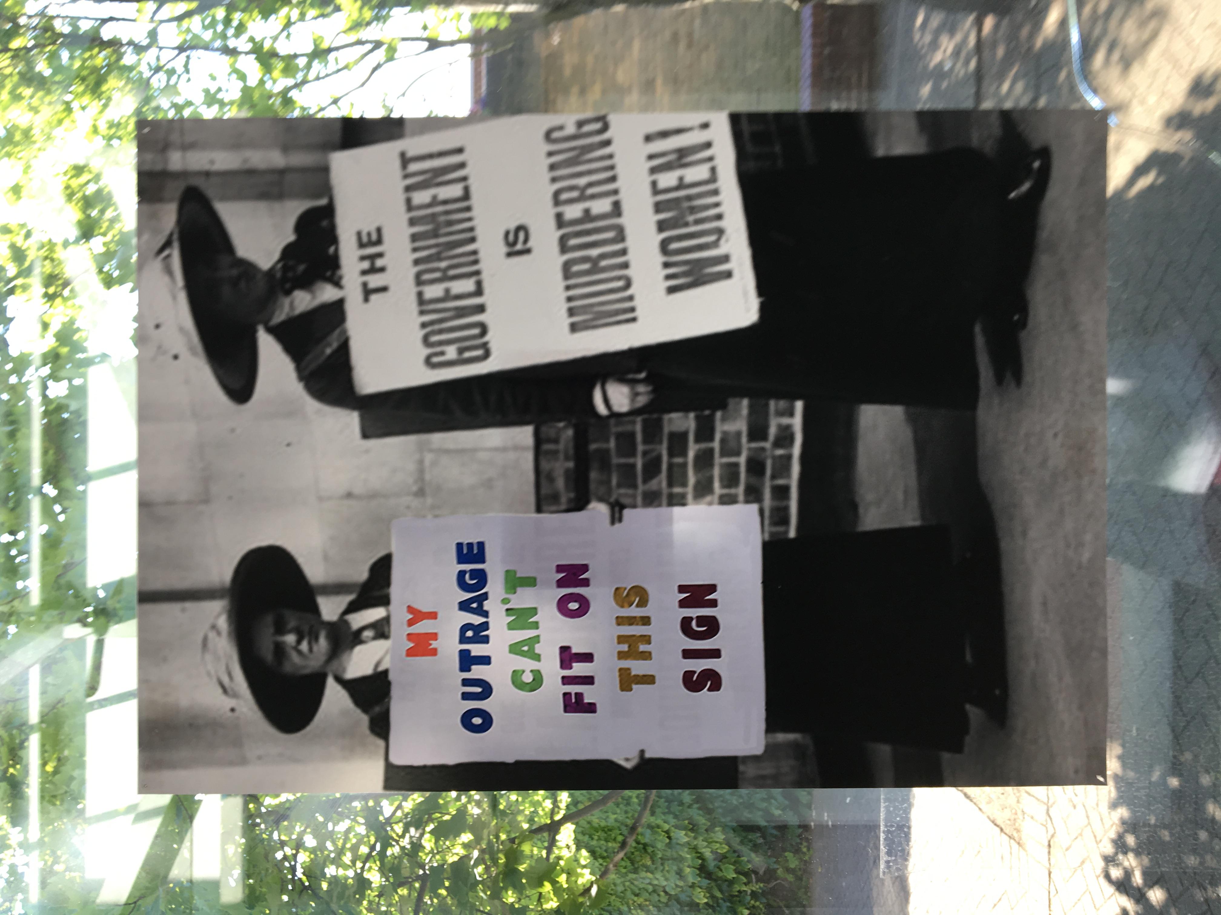 58c. Suffragette Marches, Felicity Beaumont, 40.5 x 59 x 0.1, £ offers