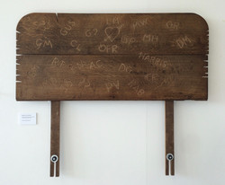 56. Notches On My headboard, 110 x 93 x 4.5, not for sale