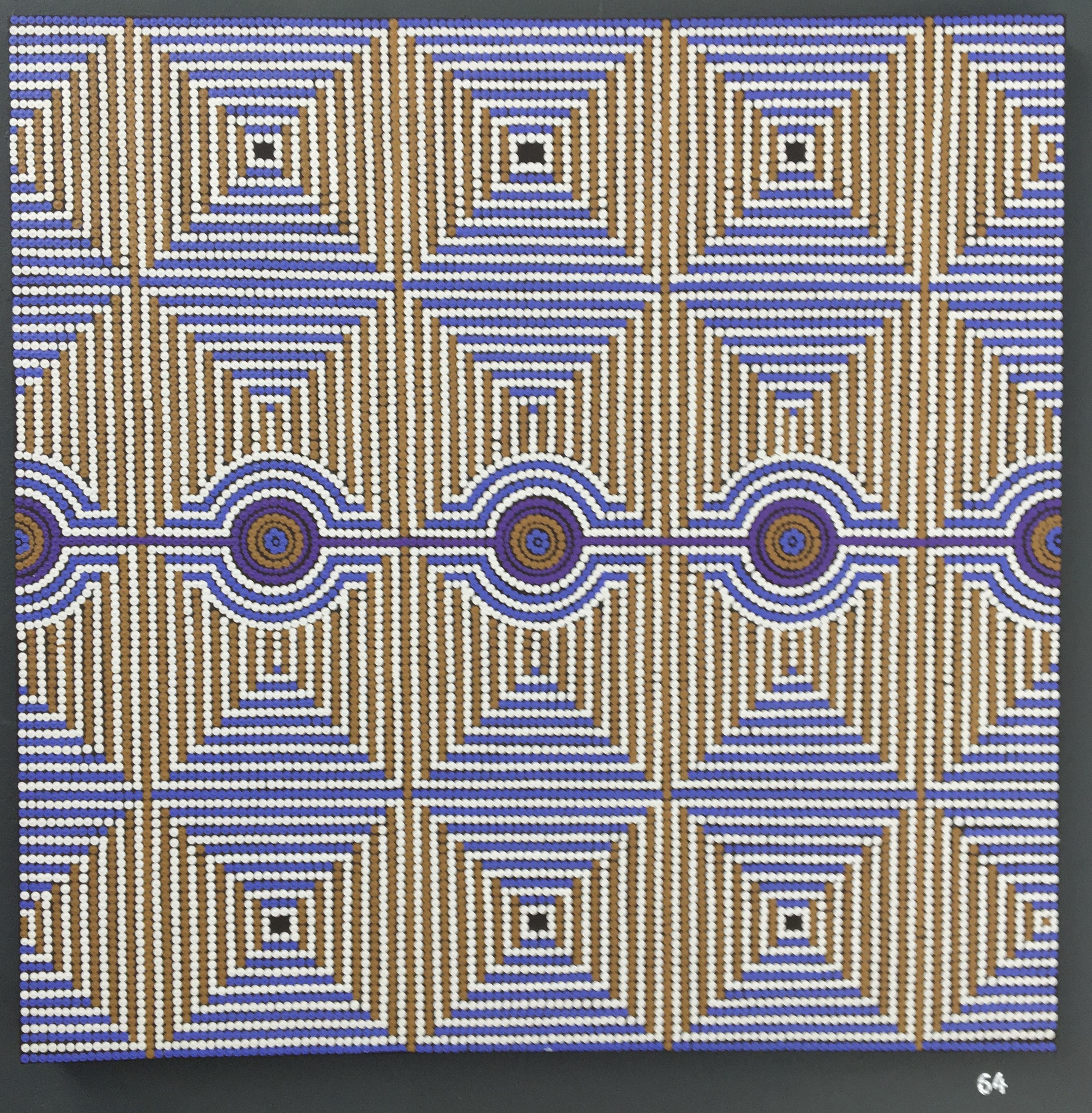 64. Untitled, Shaun Cole, 90 x 90 x 3, £150