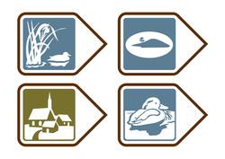 Symbols for four trails