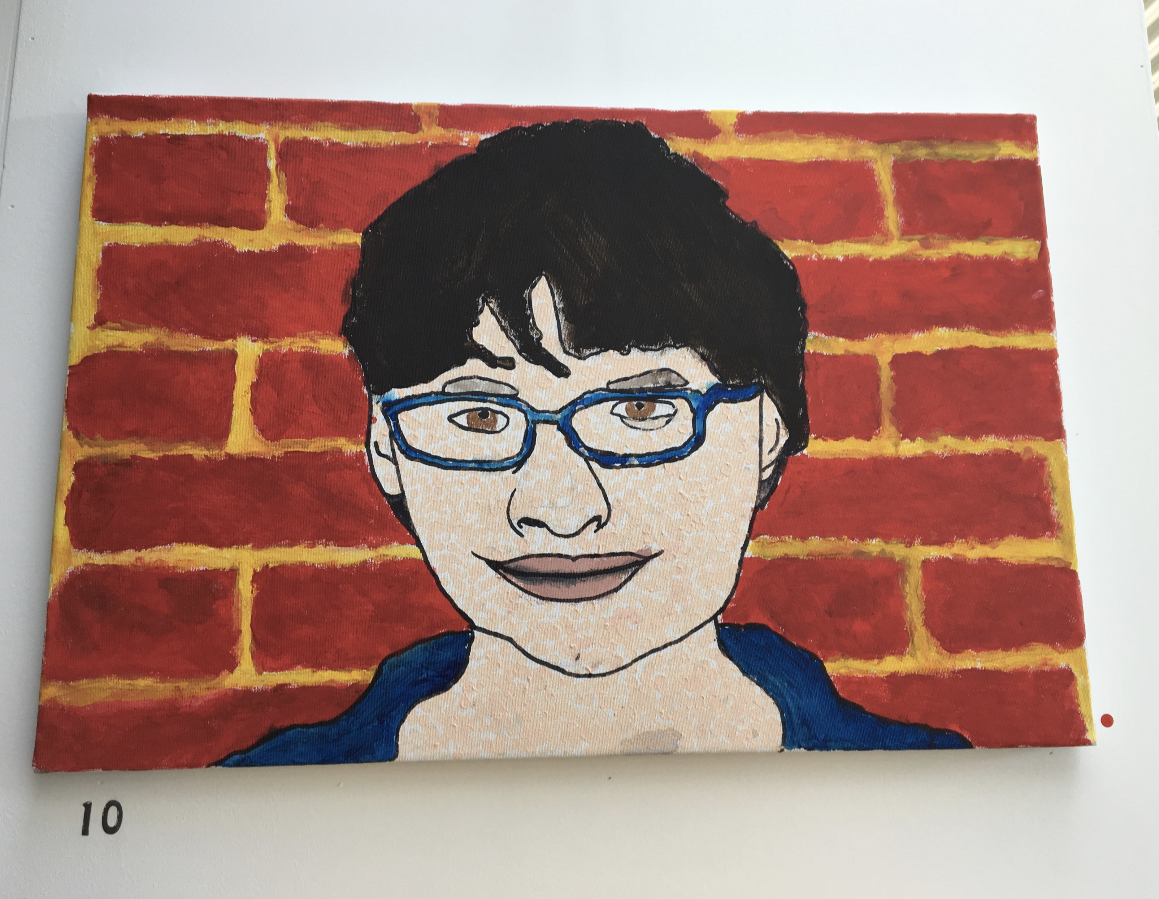 10.SElf Portrait, Tom Coomber, 40 x 60 x 2, £36, SOLD