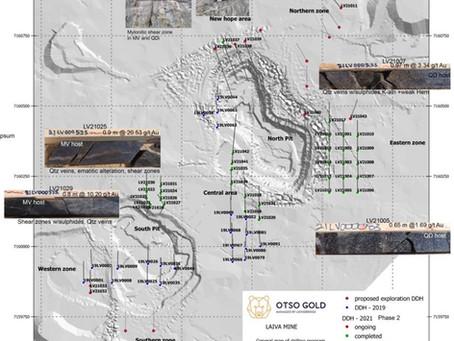 Otso Gold Drilling Program Well Advanced