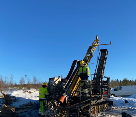Drilling east of north pit - 2021