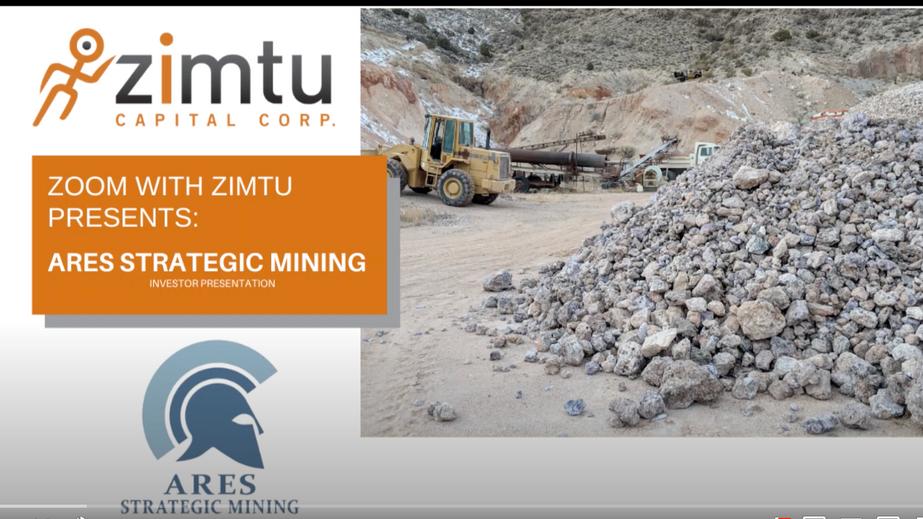 'Zoom with Zimtu' #5: Ares Strategic Mining - Investor Presentation