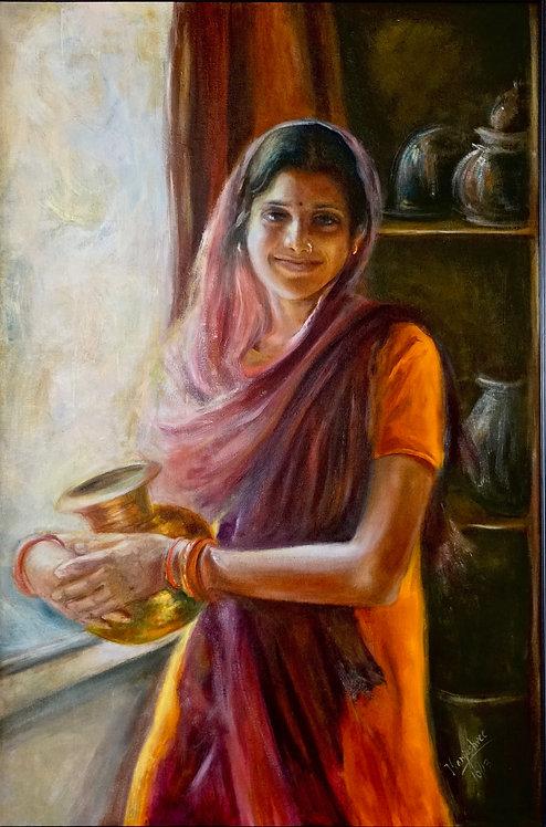 """Priyanka with my Mother's Pot"""