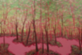 Joaquin Navarro Pink Forest Diptych #2