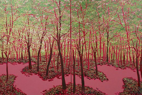 Pink Forest Diptych #2
