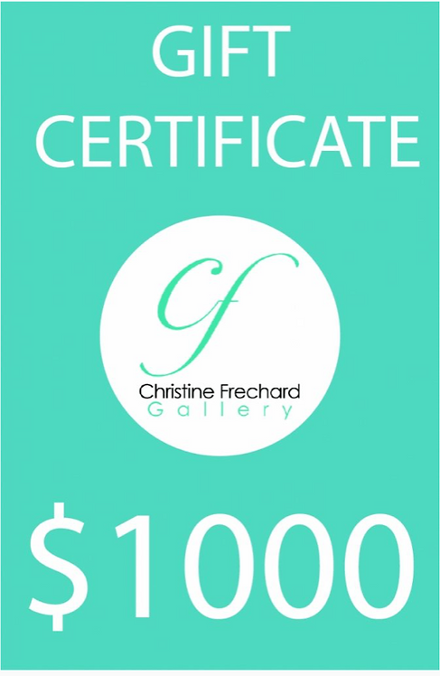Christine Frechard $1000 Gift Certificate