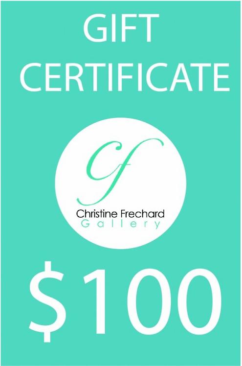 Christine Frechard $100 Gift Certificate