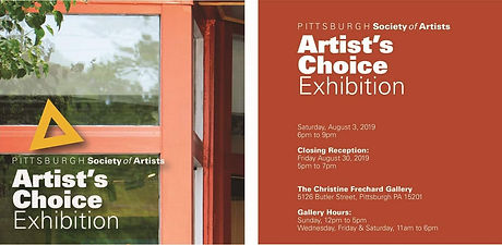 Pittsburgh Society Of Artists Artist Choice Flyer