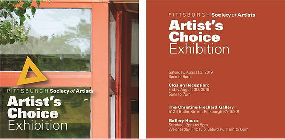 Pittsburgh Society Of Artists Choice Flyer