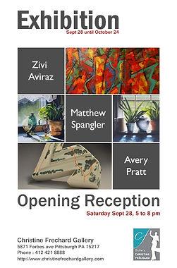 Exhibition: Aviraz, Spangler, Pratt