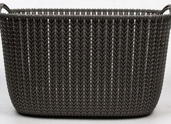 Koš hranatý Curver Knit 19L hnědý 1ks
