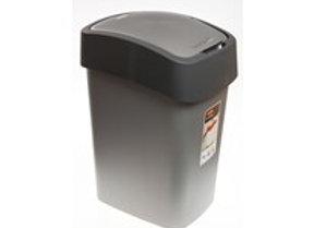 Odpadkový koš Flipbin stříbrno/zelený 25L 1ks