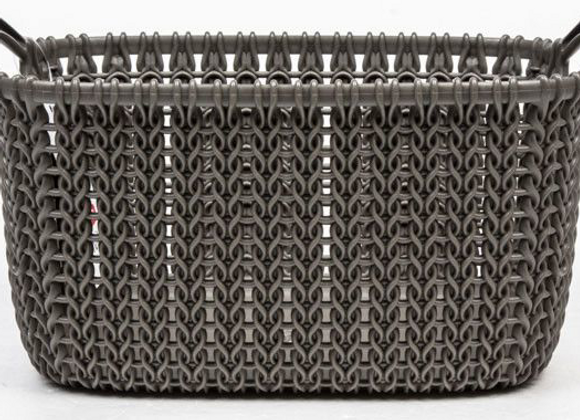 Koš hranatý Knit Curver 3L hnědý 1ks