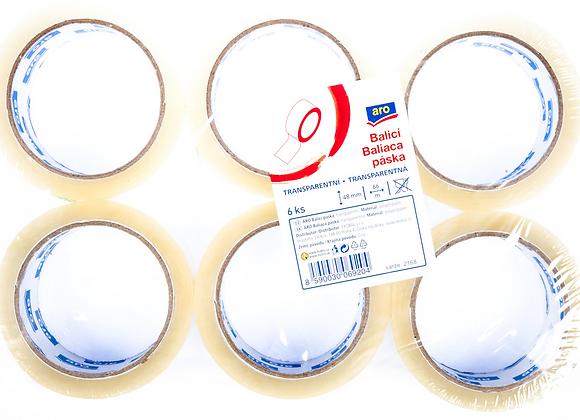 Páska balicí ARO 48x66m transparentní 6ks