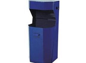 Koš odpadkový venkovní s popelníkem modrý 1ks