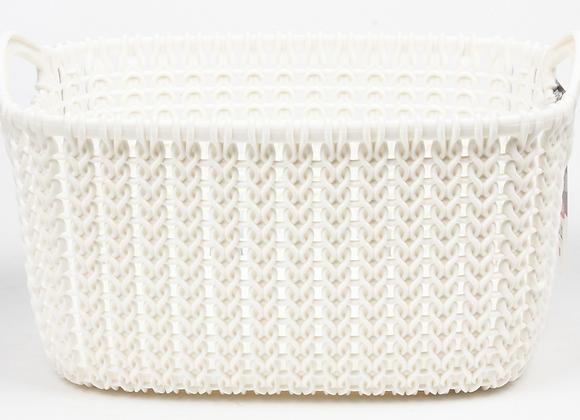 Koš hranatý Knit Curver 3L bílý 1ks