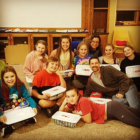 First Covenant Iron Mountain Jr. High Youth Group Operation Christmas Child