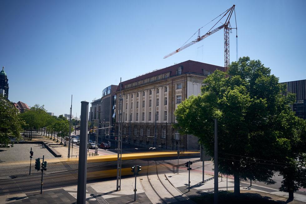 Altes Dresdner Bankhaus im Auftrag der sächsischen Zeitung.
