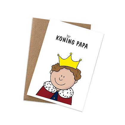 Koning papa - wenskaart