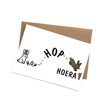 Hop hop hoera - wenskaart
