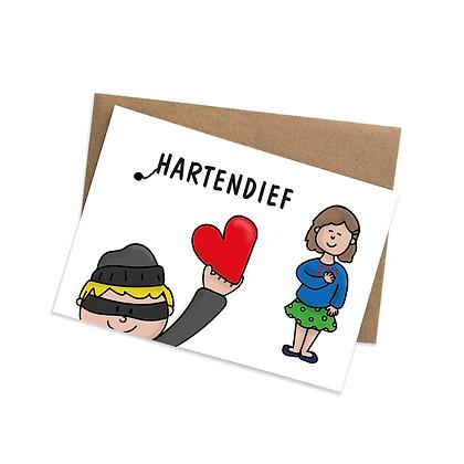 Hartendief (jongen) - wenskaart